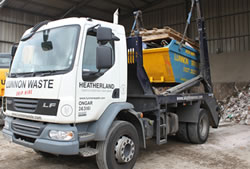 Skip Hire in Brentwood fully loaded skip